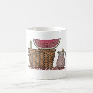 Picnic Basket & Watermelon Coffee Mug