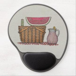 Picnic Basket & Watermelon Gel Mouse Pad