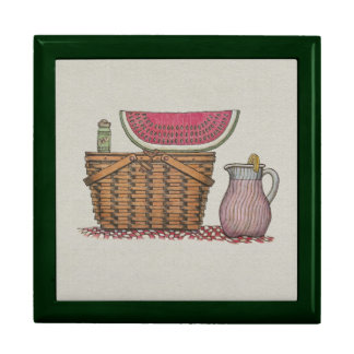 Picnic Basket & Watermelon Jewelry Box