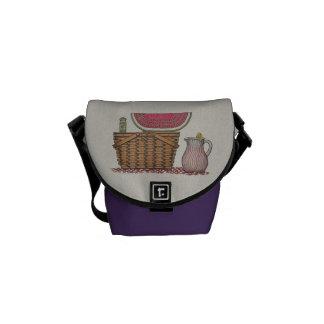 Picnic Basket & Watermelon Courier Bag