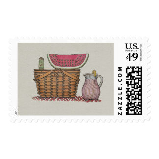 Picnic Basket & Watermelon Stamps