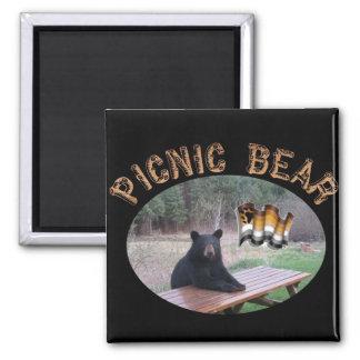 Picnic Bear Magnet