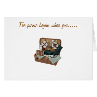 PICNIC BEGINS WHEN U COME HOME CARD
