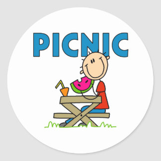 Picnic Boy Classic Round Sticker