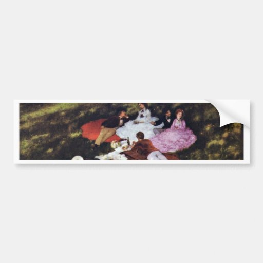 Picnic By Pál Szinyei Merse (Best Quality) Bumper Stickers