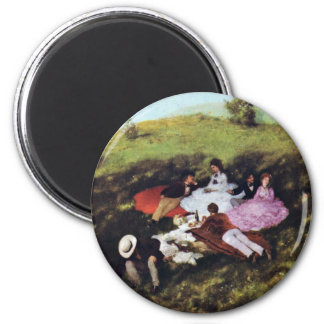 Picnic By Pál Szinyei Merse (Best Quality) Refrigerator Magnets