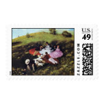 Picnic By Pál Szinyei Merse (Best Quality) Postage