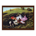 Picnic By Pál Szinyei Merse (Best Quality) Post Cards