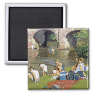 Picnic by the River Withypool Magnet