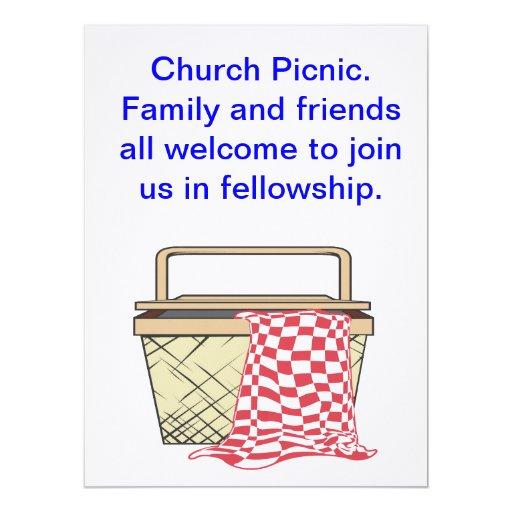 """Picnic Card/Invite 6.5"""" X 8.75"""" Invitation Card"""
