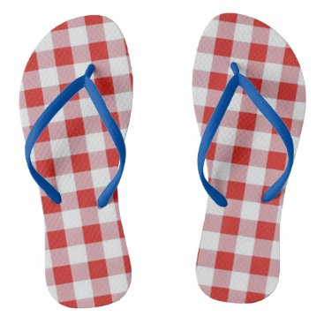 Beach Themed Picnic-Checks-Summer-Fun(C)Multi-Styles Flip Flops