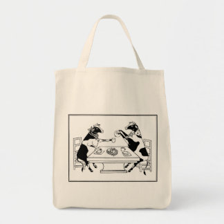 Picnic Cows Organic Tote Bag White