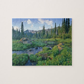 Picnic Creek in the Jewel Basin of the Swan Jigsaw Puzzle
