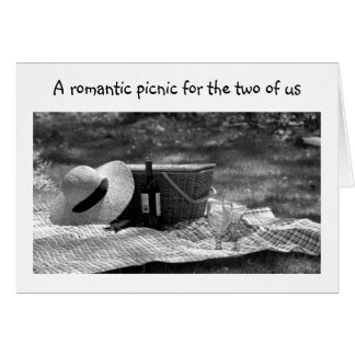 PICNIC FOR TWO-LAST A LIFETIME-TO GROOM GREETING CARD