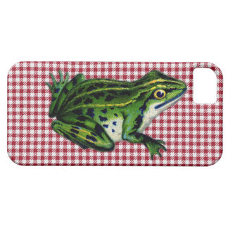 Picnic Frog Print iPhone SE/5/5s Case
