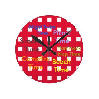 Picnic Garden Backyard Barbecue Clock