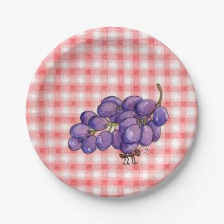 Picnic Grapes Paper Plate