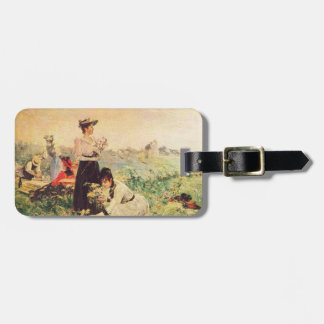 Picnic in Normandy by Juan Luna. Luggage Tag