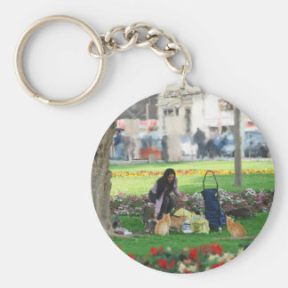 Picnic in the Park Keychain