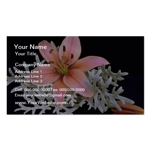 Picnic lily flowers business card