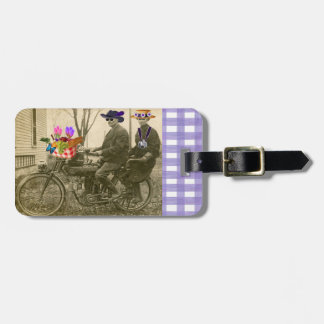 Picnic On A Bicycle Luggage Tag