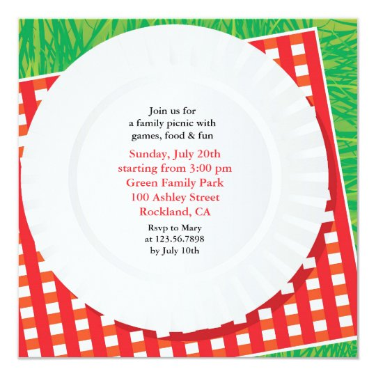 Picnic Outing Party Flat Invitation