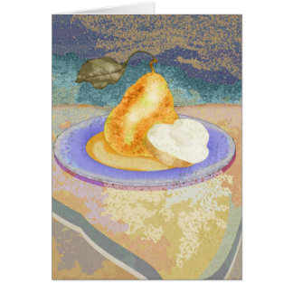 Picnic Pear Greeting Card