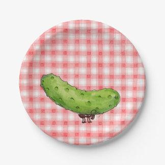 Picnic Pickle Paper Plate