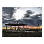 Picnic Shelter At Sunrise Post Card