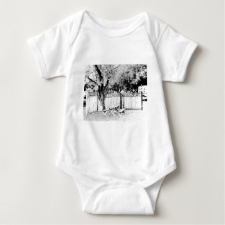 Picnic Table at the Campground Baby Bodysuit