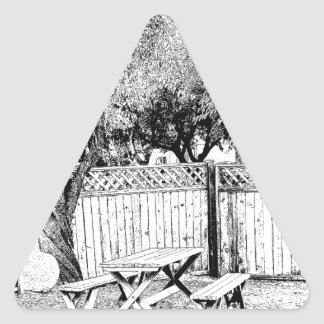 Picnic Table at the Campground Triangle Sticker