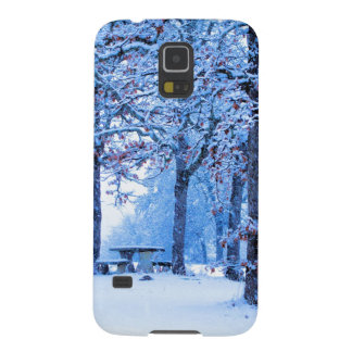 Picnic Table in Winter Case For Galaxy S5