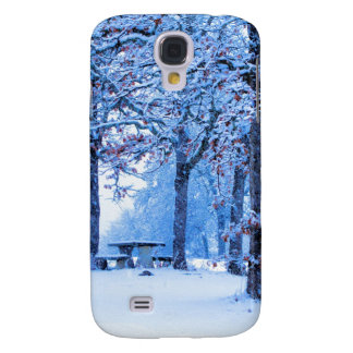 Picnic Table in Winter Galaxy S4 Covers