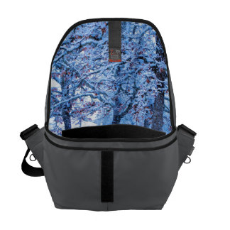 Picnic Table in Winter Messenger Bags