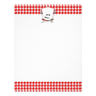 Picnic Table w/Chef Hat with BBQ Tools Letterhead