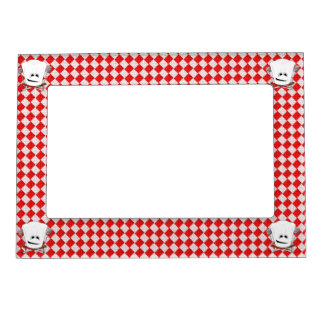 Picnic Table w/Chef Hat with BBQ Tools Picture Frame Magnets