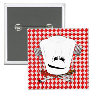 Picnic Table w/Chef Hat with BBQ Tools Pins