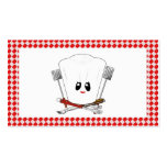 Picnic Table w/Female Chef Hat & BBQ Tools Business Cards