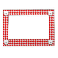 Picnic Table w/Female Chef Hat & BBQ Tools Magnetic Frame