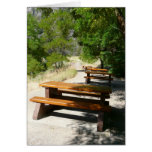 Picnic Tables in the Park Card