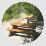 Picnic Tables in the Park Sticker