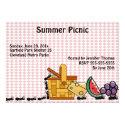"""Picnic Thieves Invitation 5"""" X 7"""" Invitation Card"""