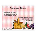 Picnic Thieves Invitation Post Cards
