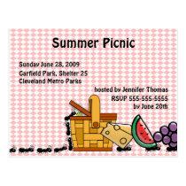 Picnic Thieves Invitation Postcard
