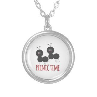 Picnic Time Round Pendant Necklace