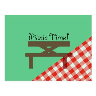 picnic time postcard