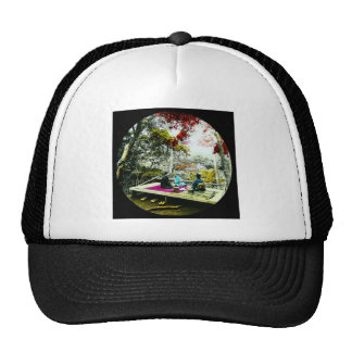 Picnic Under the Maple Leaves Vintage Old Japan Trucker Hat