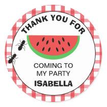Picnic Watermelon Birthday Party Sticker