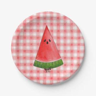Picnic Watermelon Paper Plate