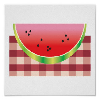 picnic watermelon vector graphic posters